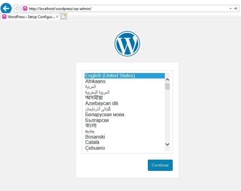 WampServer Homepage