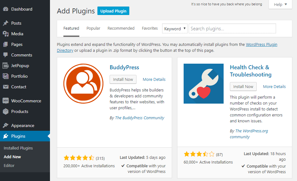WordPress Plugins block