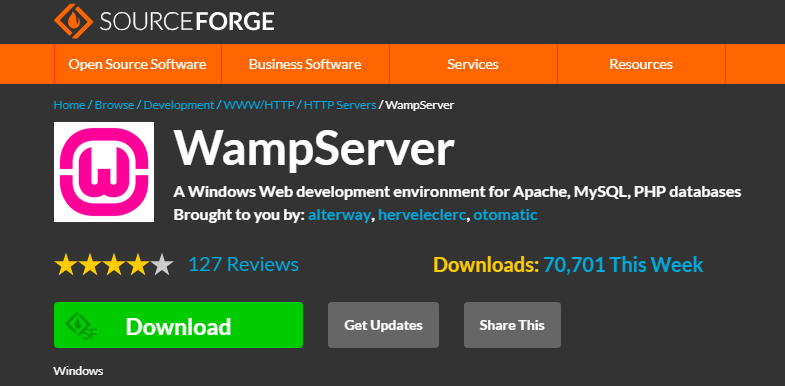 WampServer website