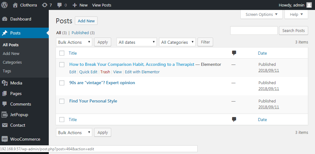 Finding out the page's or post's ID in WordPress Dashboard