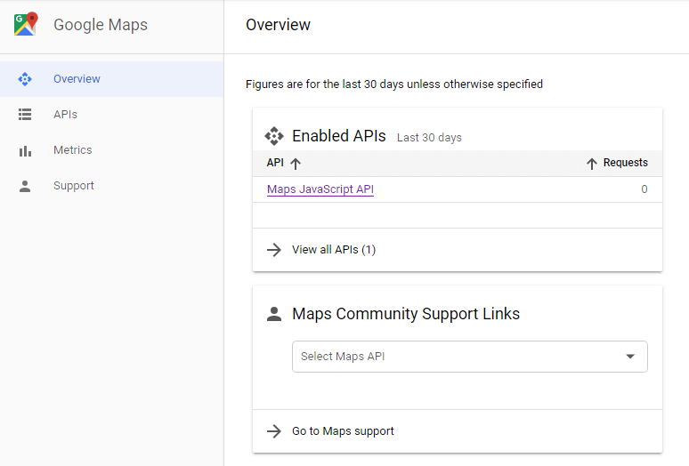 How to create Google Maps API key to use Advanced Map widget for