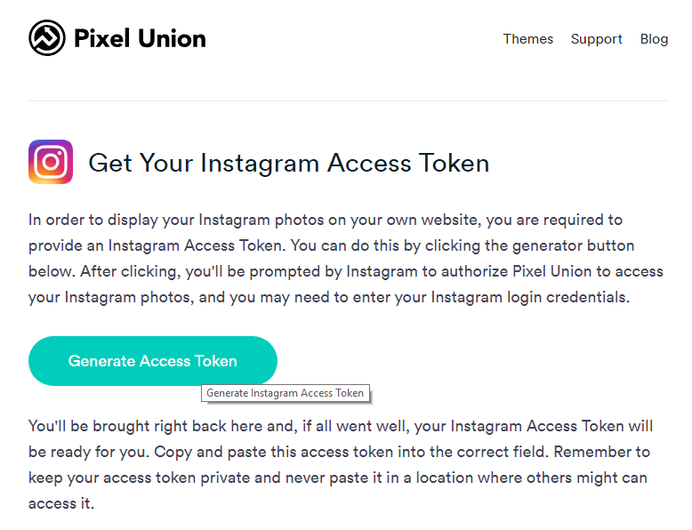 Generate Access Token button