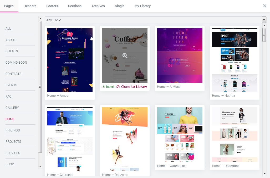 ready-to-use and pre-designed templates on different kinds of topics