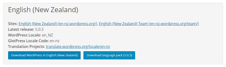 Download the language pack