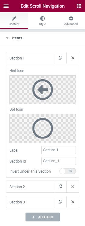 Scroll Navigation single item