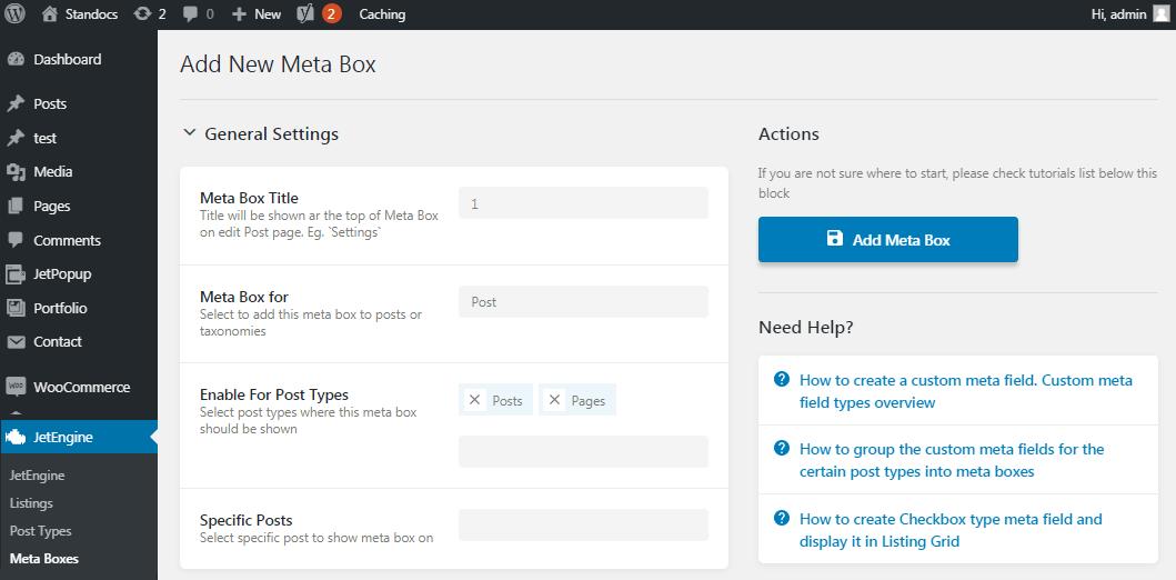 add a new meta box