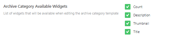 archive category widgets adjustment