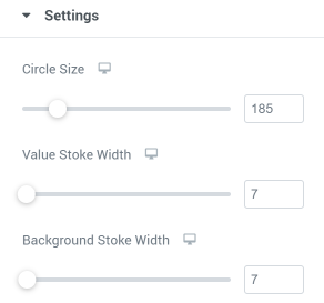Circle progress settings section