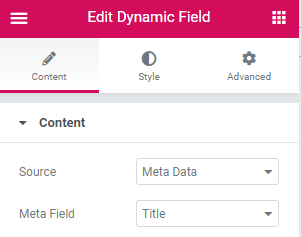 dynamic field widget