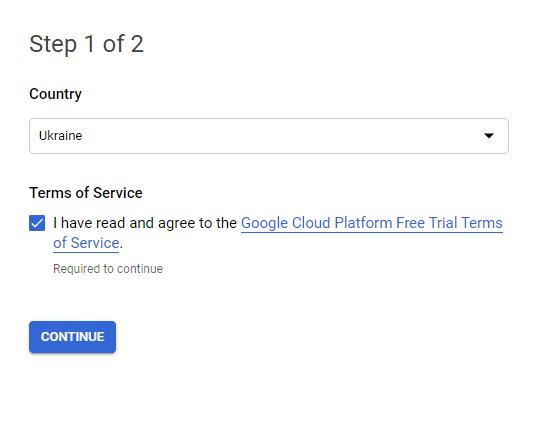 first step for activating Google cloud platform
