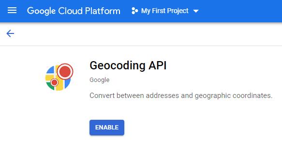 Googlemaps API key