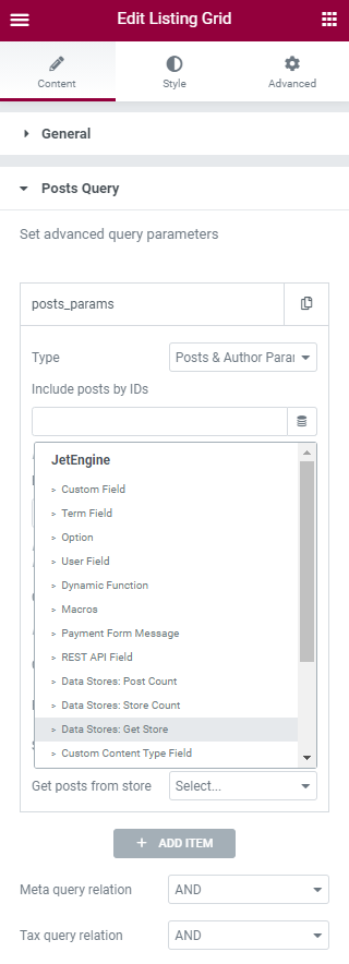 get store dynamic tag