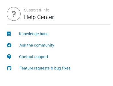 Crocoblock dashboard Help Center section