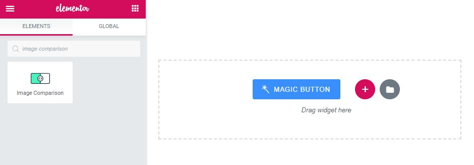 Image Comparison widget