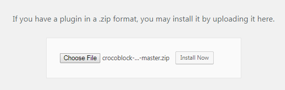 Crocoblock Wizard installation