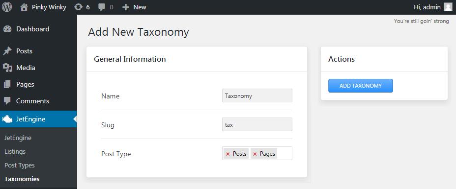Taxonomies block