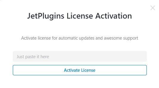 input license key