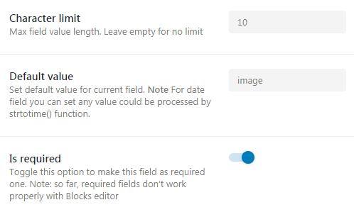 meta field settings