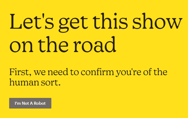 confirm you are not a robot