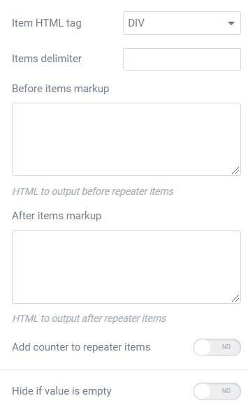 repeater features