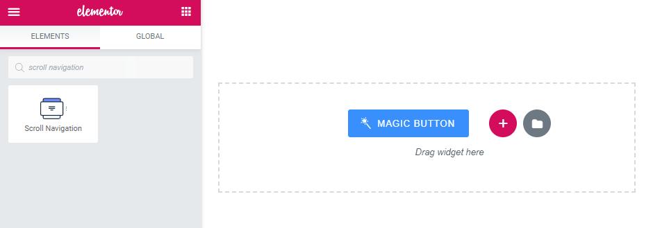 Scroll Navigation widget