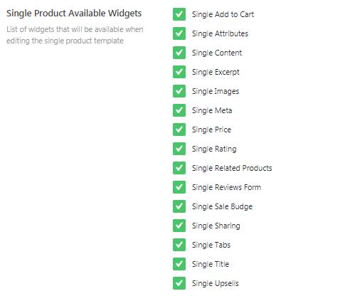 single jetwoobuilder widgets