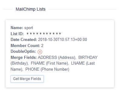 Mailchimp tags