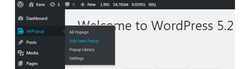 new popup with JetPopup