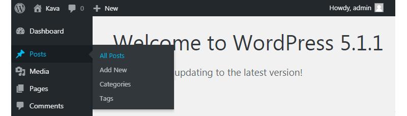 JetElements WordPress dashboard