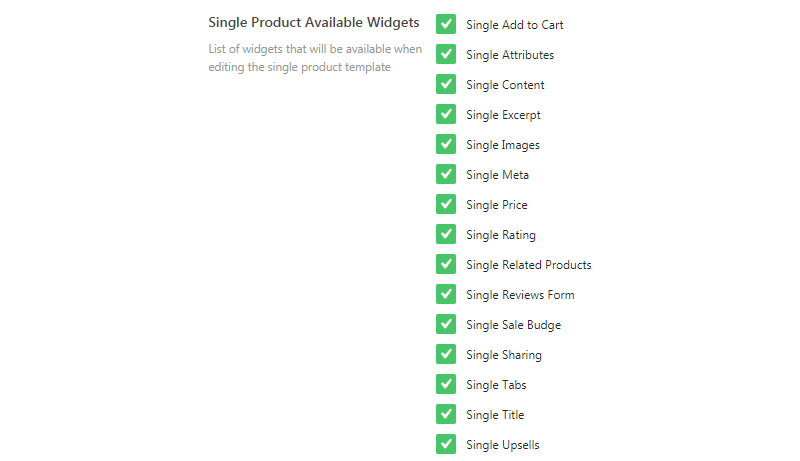 JetWooBuilder single product widgets