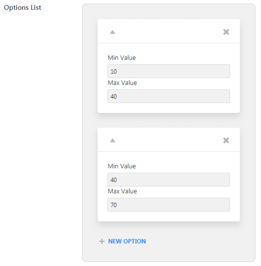 Min and Max Values for your products in the Options List