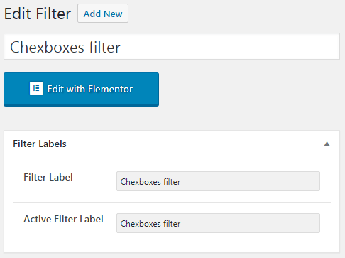 Fillter labels in Checkbox new filter