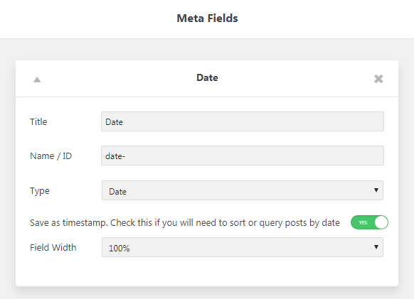 Date Range filter. Adding a Post Type with Meta Field