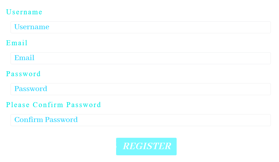Registration form JetBlocks style up