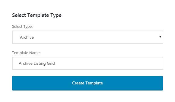 Archive template setup
