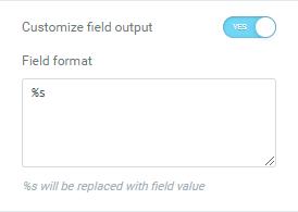 Customize field input option