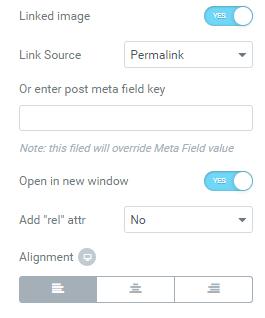 Linked image option