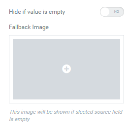 Hide if value is empty option