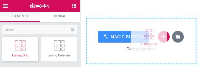 Listing Grid widget for Elementor