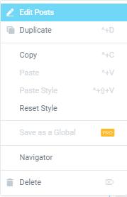 Posts widget for Elementor
