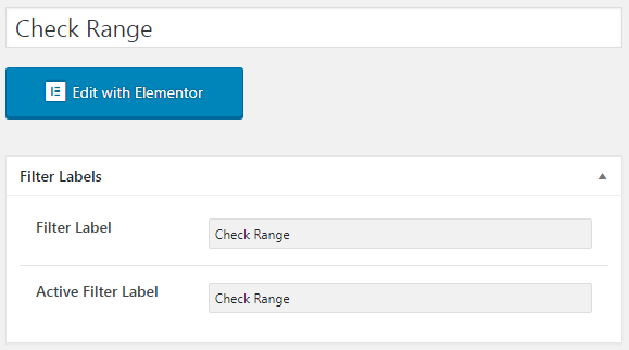 Check Range filter in WP Dashboard