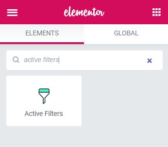 active filters widget
