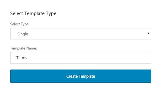 create single post template