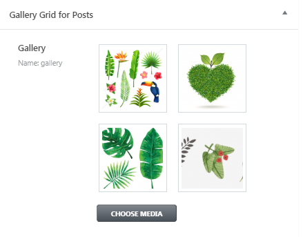 gallery grid for posts