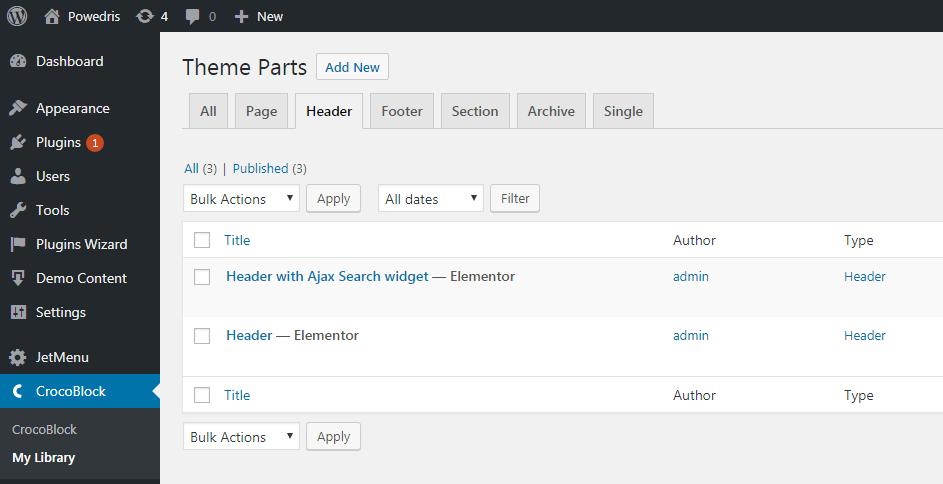 Crocoblock > My library directory