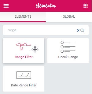 Range Filter Widget