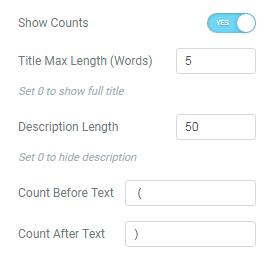 Taxonomy Tiles Elementor settings