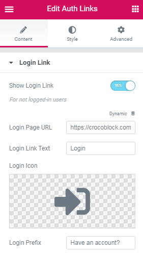 auth-links-login-link-settings