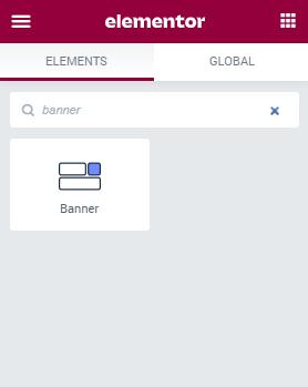 Banner widget