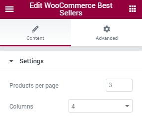 WooCommerce Best Sellers settings